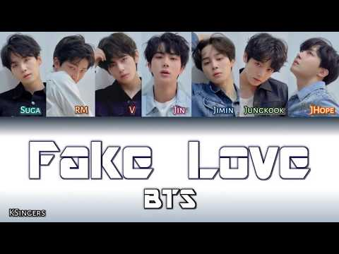BTS - Fake Love | Sub (Han - Rom - Español) Color Coded Letra