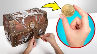 How To Make Treasure Chest From Cardboard! 🗝