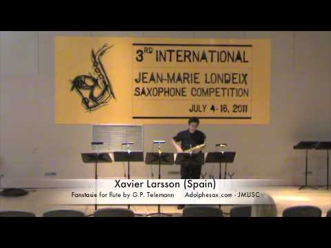 3rd JMLISC: Xavier Larsson (Spain) Fantasie for flute by G.P. Telemann