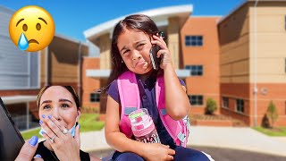 ELLE CALLS FROM SCHOOL CRYING... **SAD DAY**