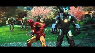 Iron Man and War Machine vs.  Hammer Drones - Iron Man 2