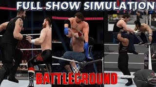WWE 2K16 SIMULATION: BATTLEGROUND 2016 FULL SHOW HIGHLIGHTS