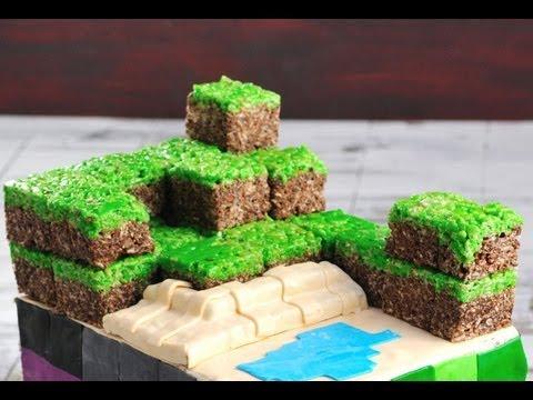 Minecraft Dirt Block Rice Krispie Treats Haniela S Youtube