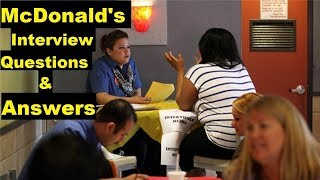 How to Prepare/What to Expect at an Interview at Mcdonalds