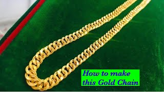How the gold chain is made | Double ring chain making | Gold chain making