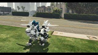 GTA 5 - Linh thú của Siêu nhân xanh tiến hóa mọc thêm cánh   GHTG