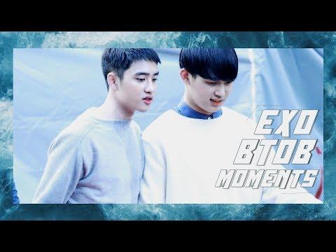 EXO AND BTOB MOMENTS