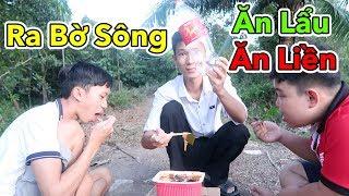 Lâm Vlog - Ra Bờ Sông Ăn Thử Lẩu Ăn Liền   Lẩu Cay Tứ Xuyên và Lẩu Kim Chi Hàn Quốc Ăn Liền Tự Sôi