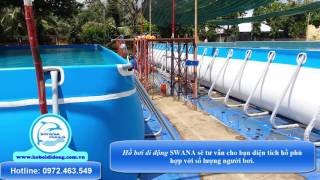 Bể bơi di động   Hồ bơi di động Swana   Swana pools  Hồ bơi giá rẻ  Giải pháp hồ bơi chi phí thấp