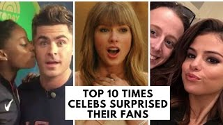 Top 10 Times Celebs Surprised Their Fans