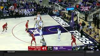 Texas Tech vs TCU Men's Basketball Highlights
