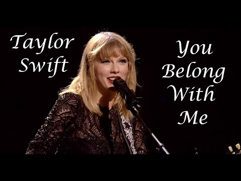Taylor Swift - You Belong With Me (Multi Live)