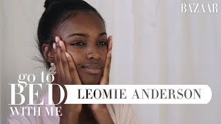 Leomie Anderson's Nighttime Skincare Routine | Go To Bed With Me | Harper's BAZAAR
