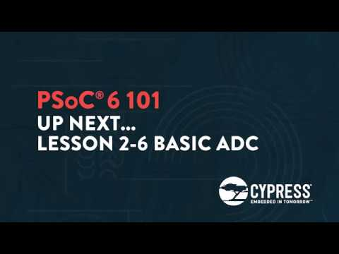 Cypress: PSoC 6 101: Lesson  2-5b Implementing CapSense into BLE Controlled Robotic Arm Project