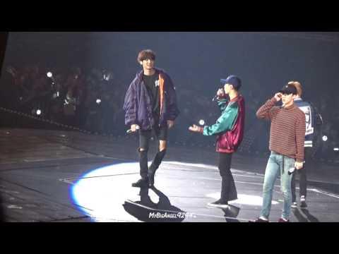 161127 EXO'rDIUM in Taipei Sehun+Xiumin carzy dance with Chanyeol and talk