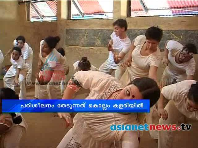 Forign students in Kerala for learning Mohiniyattam and Kalarippayattu