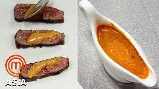 Cooking A Delicious Sauce To Match A Medium Rare Steak |  MasterChef Asia | MasterChef World
