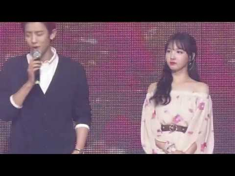 160624 Chanyeol and Nayeon Music Bank Special Stage Dream