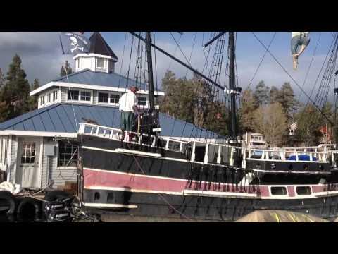Pirate on board the Big Bear Pirate Ship
