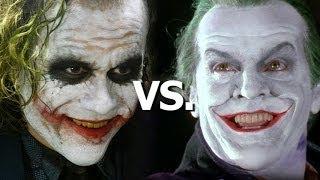 Heath Ledger vs. Jack Nicholson as The Joker