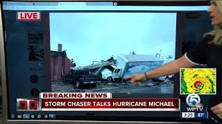Storm chaser posting photos of Hurricane Michael damage