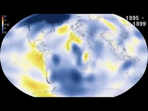Las anomalías en la temperatura de la Tierra (1880-2014)