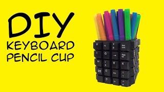 DIY Keyboard Craft: Pencil Cup:  GeekyMcFangirl Tutorial