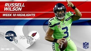 Russell Wilson Leads Seattle to Victory w/ 2 TDs!   Seahawks vs. Cardinals   Wk 10 Player Highlights