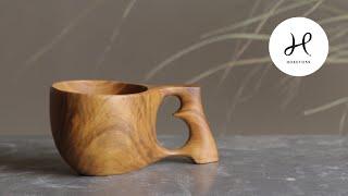 ③ Making wooden cup .      Kuksa carving         #kuksa #woodworking #bushcraft