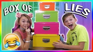 BOX OF LIES | OR IS IT?😜| We Are The Davises