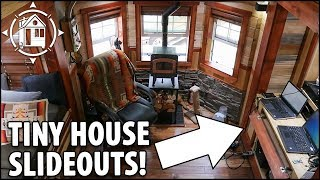 Expanding TINY HOUSE Built for No Mortgage Retirement with Slide Outs