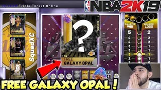 IF I WIN THIS GAME OF TRIPLE THREAT ONLINE I GET A FREE GALAXY OPAL IN NBA 2K19 MYTEAM