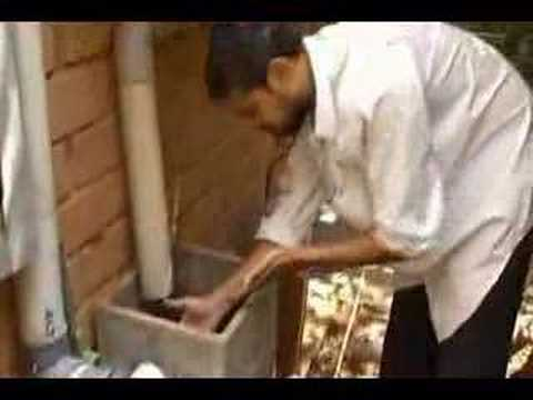 Rooftop rainwater harvesting into a sump