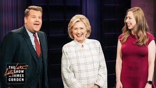 Hillary & Chelsea Clinton Crash James Corden's Monologue