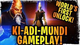 Ki-Adi-Mundi Gameplay Reveal! 4 Star Initial Impressions - Jedi Hit HARD! World's First Unlock