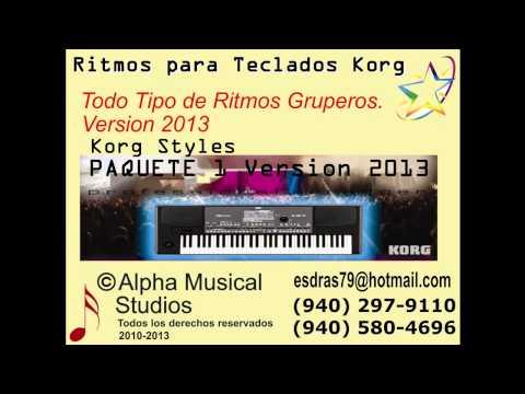RITMOS KORG, KORG STYLES, Ritmos Gruperos V. 2013