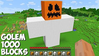 What if you SPAWN A GOLEM OF 1000 BLOCKS in Minecraft ? INCREDIBLY HUGE IRON GOLEM !