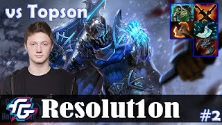 Resolution - Sven Safelane | vs Topson (Ember Spirit) | Dota 2 Pro MMR Gameplay #2
