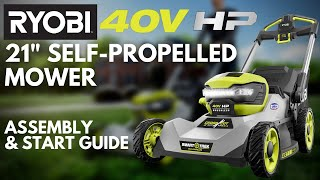 """Video: 40V HP 21"""" Brushless CrossCut Self-Propelled Mower with (2) 40V 6Ah Batteries and Charger"""
