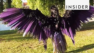 Cosplayer Makes Giant Mechanical Wings