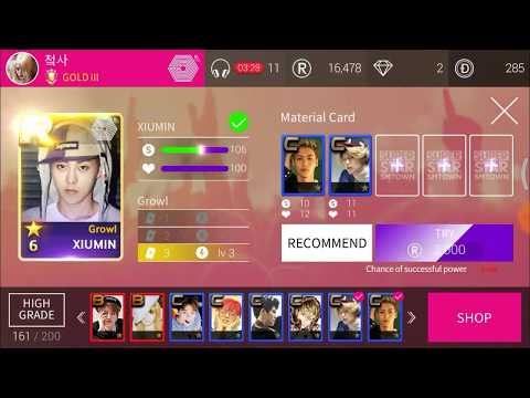[SUPERSTAR SMTOWN] #1 How To Power Up R Cards - 100% WORK