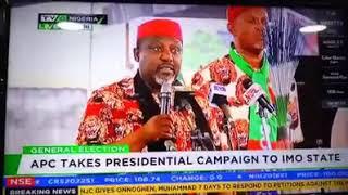 Gov. Okorocha Speaks at Imo Presidential Rally