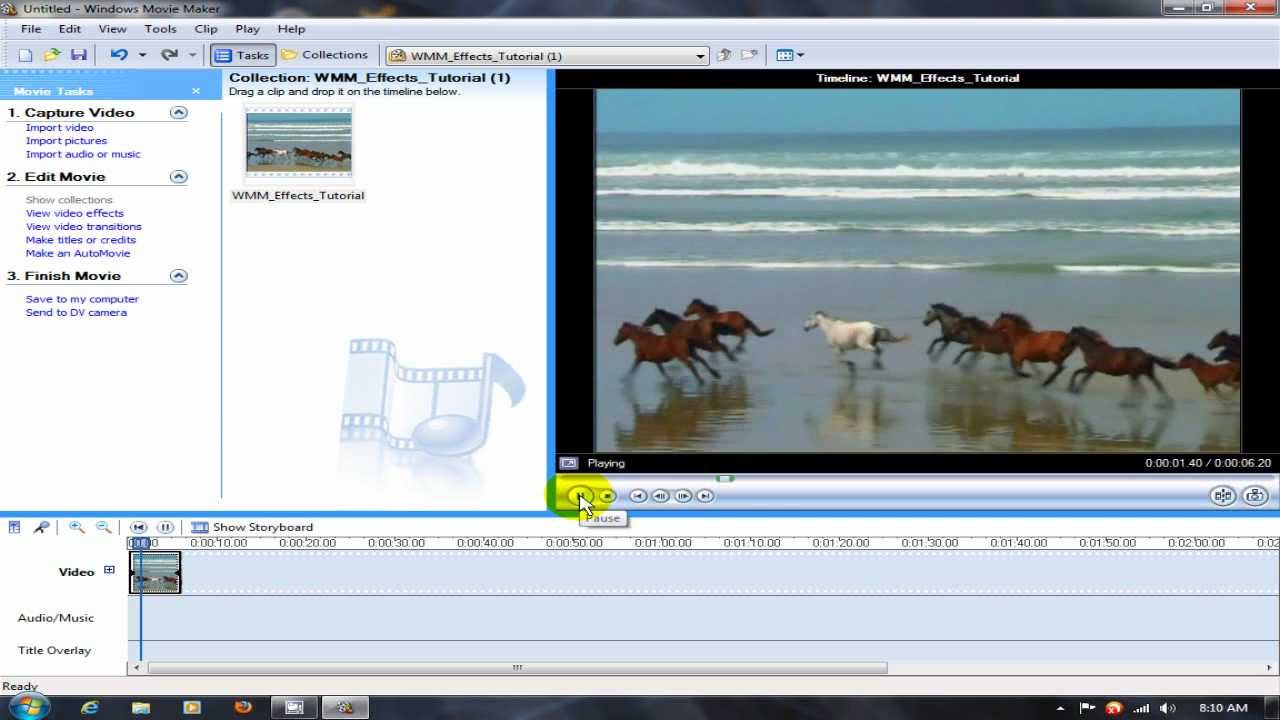 how to add new effects to windows movie maker