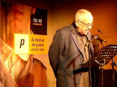 Inauguracio del 8e Festival de poesia de Sant Cugat