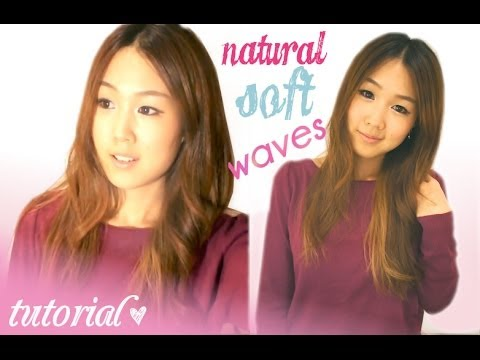 Soft Natural Waves - Adding Shape and Texture Using a Straightener ♥