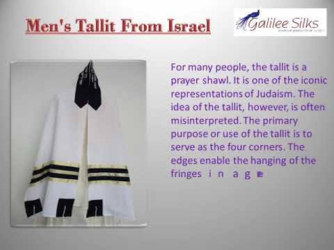 12 facts about men's Tallitot you will love to know