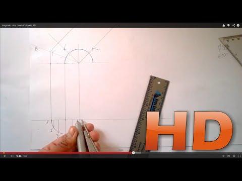 Baixar traçando uma curva Cotovelo 45° (obtuse elbow for round pipe)