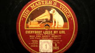 Everybody loves my girl & There ain't no maybe in my baby's eyes - Max and Harry Nesbitt