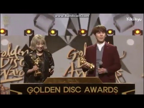 160120 GDA - Kyuhyun receiving his Digital Bonsang + Performance