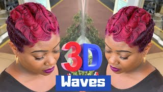 3D waves | Curl waves inspired by @Hstyles  | How to curl short hair